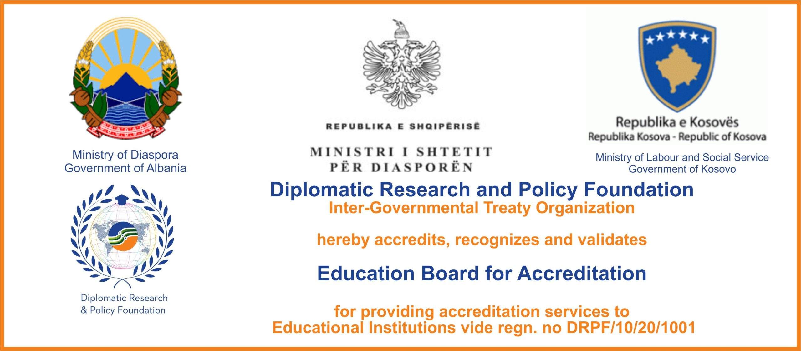 Accreditation for Schools/Institutions